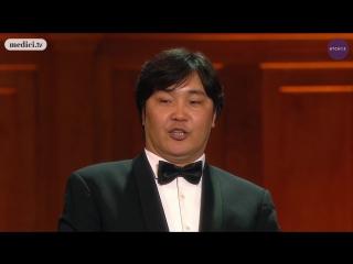 Ариунбаатар Ганбаатар на гала-концерте лауреатов Международного конкурса Чайковского в 2015 году