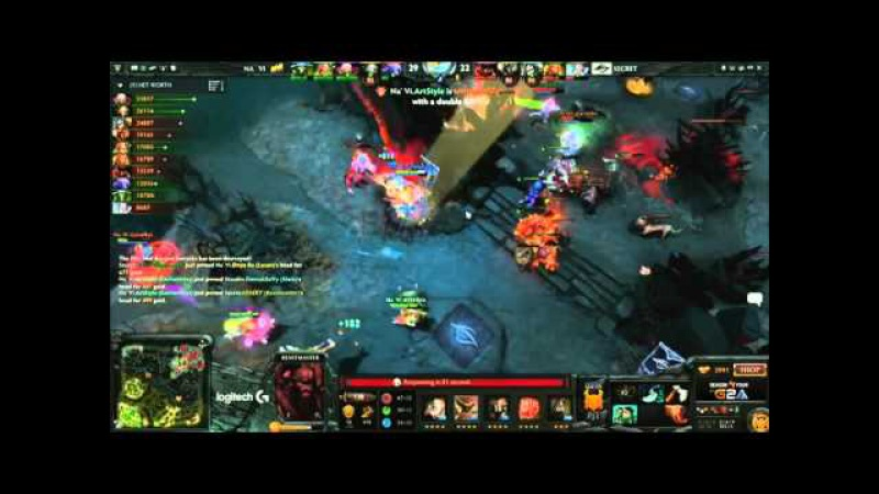 NaVi vs Secret Artstyle Enchantress Rampage DotaPit S4
