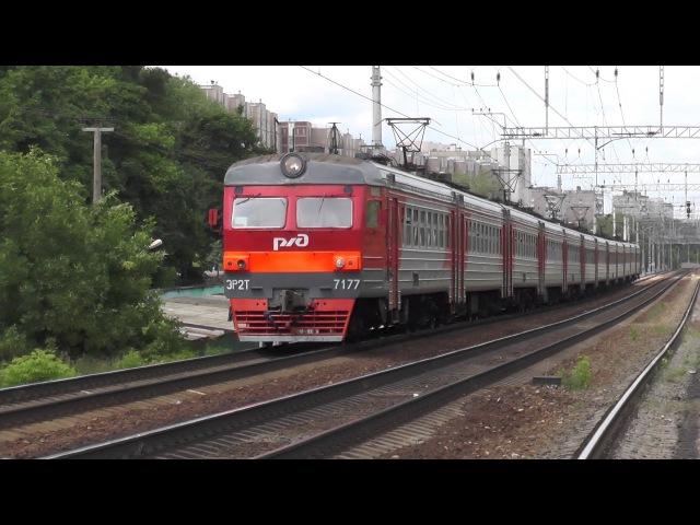 Электропоезд ЭР2Т-7177 перегон Бескудниково - Москва-Бутырская