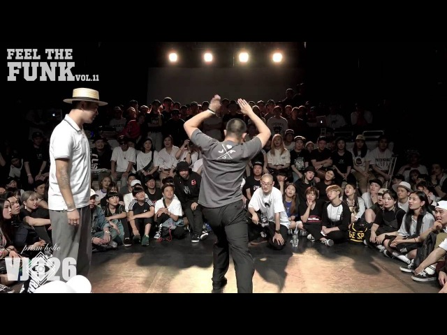Feel the funk vol.11 popping side quarter final Hoan vsTa-i (팝핀사이드 8강 호안 vs 타이)