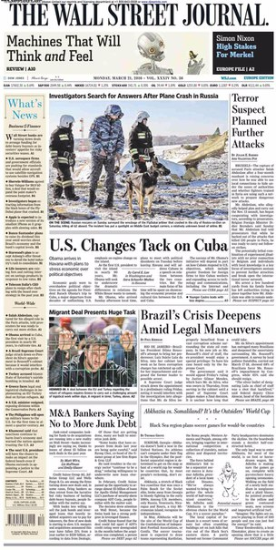 The Wall Street Journal Europe  March 21 2016