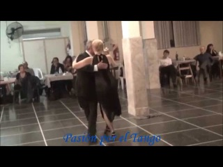 MARIA SILVIA MUCCI y ALFREDO JUAN ALONSO Bailando el Tango Milonga EL LLORON en FLOREAL MILONGA