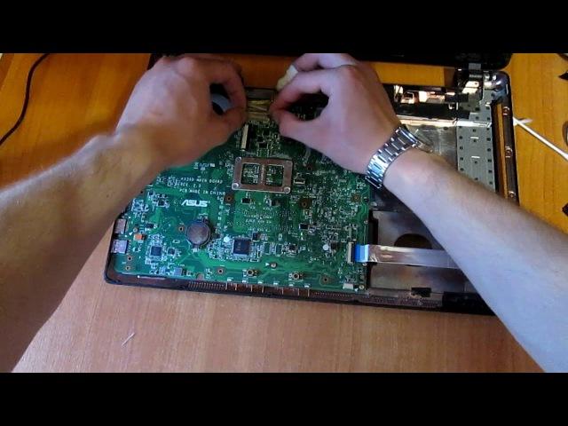 Сборка ноутбука ASUS K53E