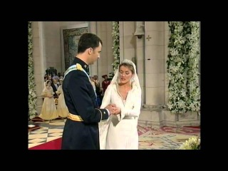 Royal Wedding, Madrid 2004. Prince Felipe and Princess Letizia of Spain. May 22, La Almudena
