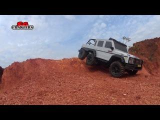 Scale Trucks Offroad Adventures 6x6 Axial SCX10 Chevrolet K-5 Blazer AS100VR bridge crossing