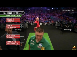 Canada vs Northern Ireland (PDC World Cup of Darts 2016 / Quarter Final)