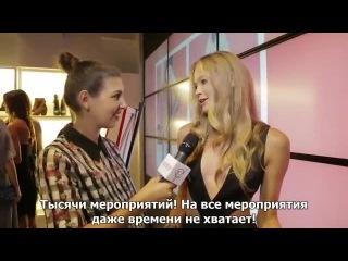 Vita Sidorkina - Victoria's Secret PINK Model shares exclusives at NYFW