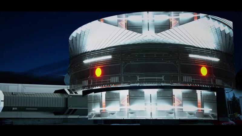 Лазерное шоу, благодарнасть сотрудникам Audi