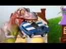 6 Мультик про машинки. Динозавр, трактор, монстр-траки, пожарная. МанкиМульт
