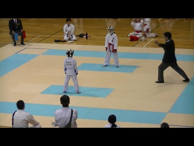 Mahiro kumite final 万優組手決勝 @ 2017全少予選 Niigata Championship