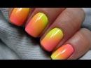 Easy ombre gradient using acrylic powder Cieniowane ombre na paznokciach proszkiem akrylowym