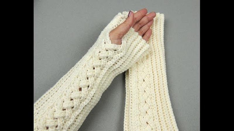 Crochet Guantes sin dedos o Mitones 3