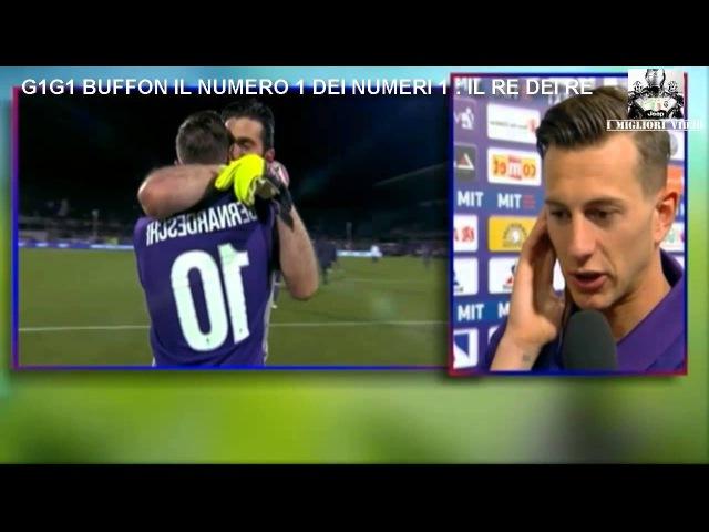 L'abbraccio da Gigi Buffon e Bernadeschi intervistato post Fiorentina Juventus 1 2 FULL HD