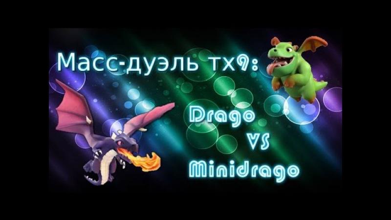 Масс-дуэль тх9: drago VS minidrago в clash of clans (стрим)
