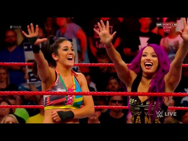 SBMKV Video RAW 17.07.17: Alexa Bliss vs Bayley Sasha Banks attacks Nia Jax