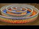 ДОМИНО ШОУ Потрясающая тройная спираль 15000 домино