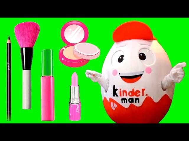 Kinderman Lively Giant Egg Superhero IRL Doing GIRLY MAKE UP For the Party