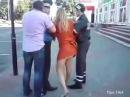 Арест пьяной автоледи Драка с инспектором