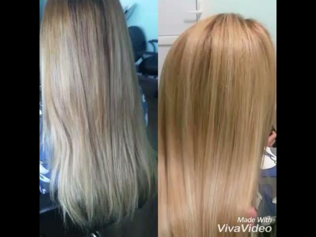 Nov 20 2016 Ольга окрашивание волос растяжкацвета с предварительной зачисткой цвета работали красителем crioxidil kaaral ботоксдляволос от HONMATOKYO H BrushBotox