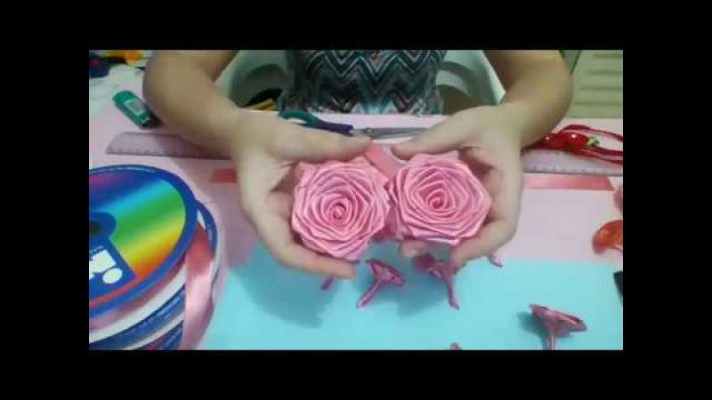 Passo a Passo da Rosa rococó costurada tamanho 3cm fita nº 5