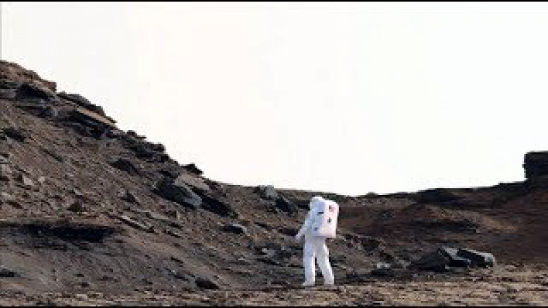 Simulated Astronaut With Scale Derived From HIRISE DATA