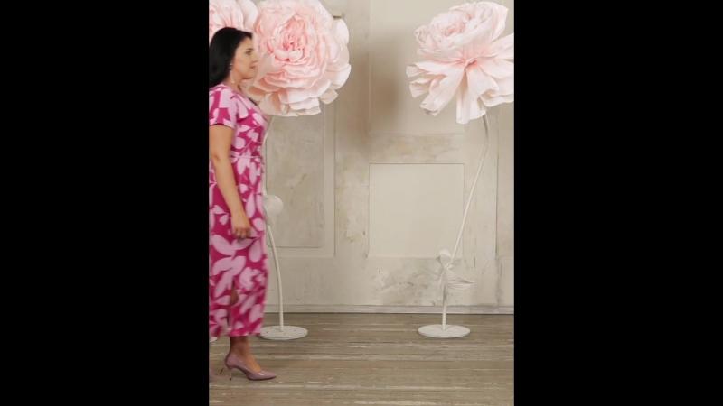 Платье «ДАНИЕЛЛА» Цвет щербет Размеры 46-60 (Интернет-магазин СОНЛАЙН)
