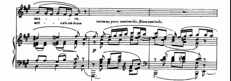 La Rosa y El Sauce C Guastavino Score Animation
