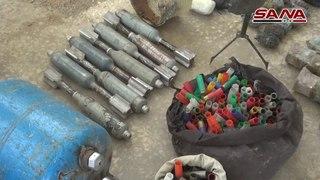 В провинции Дамаск обнаружены экскаватор для рытья туннелей и станки для производства минометных снарядов