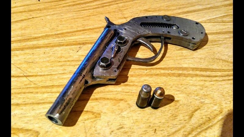 Дерринджер под патрон 9х18 литье пуль отстрел