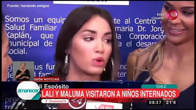 Lali y Maluma Nota de Argentina visita en actividad solidaria