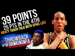 The Game Reggie Miller Trash Talks Spike Lee & Kills Choking Knicks!