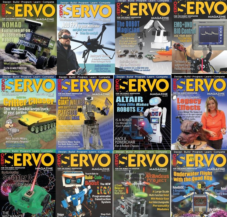 Servo Magazine - 2017 Full Year Collection