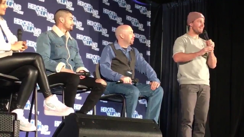 Panel crashed! Stephen Amell has kind words for Rick Gonzalez and Juliana Harkavy HVFF Atlanta