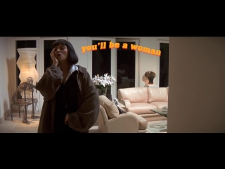 Mia wallace dancing to girl, you'll be a woman soon