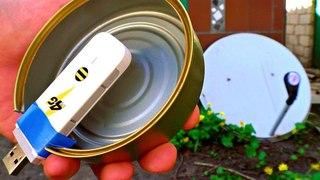 Не выбрасывай старую Спутниковую Тарелку!  Сделай Сверх-Мощный усилитель 4g, 3g и Wi-Fi