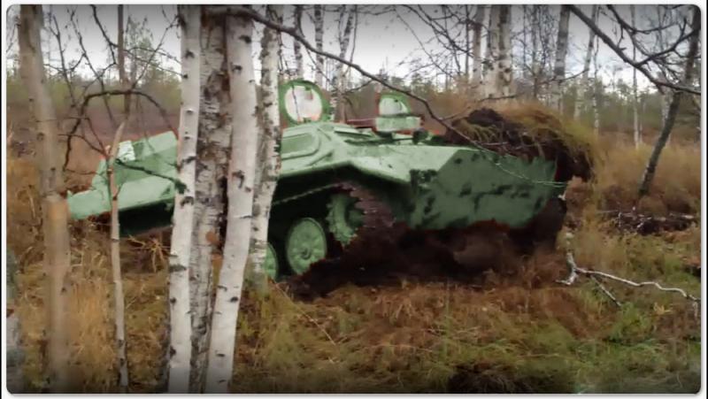 Вездеход ГАЗ 71, через завалы