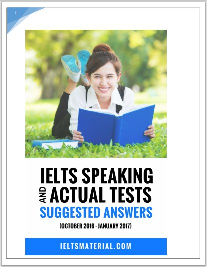Ebook IELTS Speaking Actual Tests amp amp Suggested Answers Oct 2016 Jan 2017