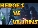 EPIC HEROES VS VILLAINS GAMEPLAY - Star Wars Battlefront 2 (Naboo Generator Room More)