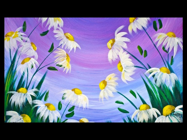 EASY Spring Flowers Acrylic Painting on Canvas for Beginners lovespringart2017 TheArtSherpa