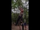 Лазанье по канату без ног с 16кг и 32кг на половину