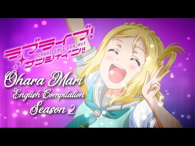 Love Live Sunshine Ohara Mari English Compilation Season 2