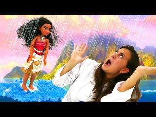 #Моана Надо мной идёт дождь! #МультикиДляДевочек Куклы и игрушки Мауи #ВидеоД ...