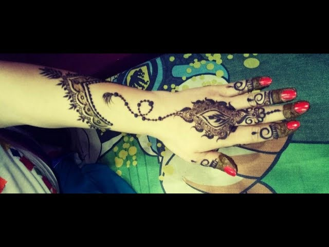 Traditional diwali special beautiful stylish henna mehndi design for back hand by piyu