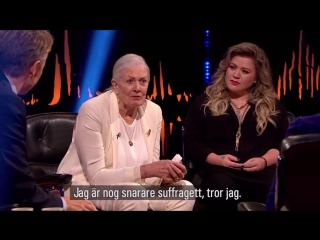 Kelly Clarkson and Vanessa Redgrave on Skavlan 2017