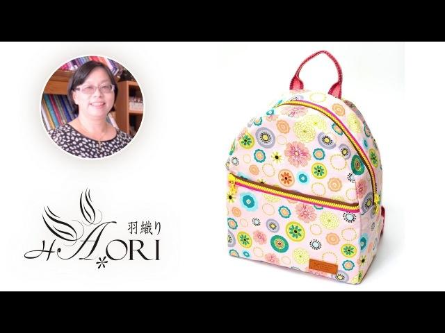 手作教學 台灣羽織 x 羅靜文老師 親子輕旅行後背包 兩種尺寸 拉鍊開口 652