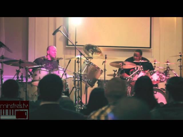 Eric Moore Gergo Borlai Drumatic 2013 after NAMM SHOW