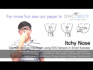 Itchy nose discreet gesture interaction using eog sensors in smart eye-wear