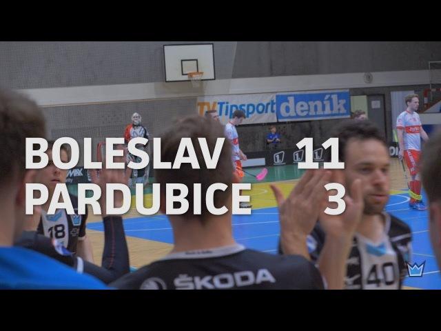 1 ČTVRTFINÁLE TIPSPORT SUPERLIGY Technology Florbal MB vs Sokol Pardubice 11 3