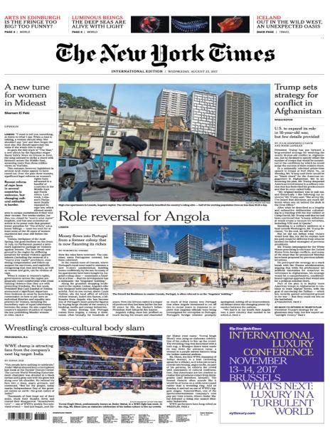 International New York Times  23 August 2017