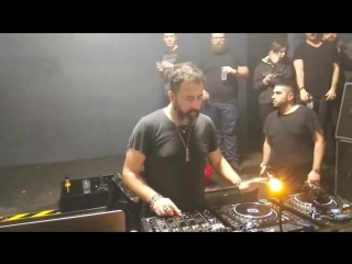 "Dave clarke closing at dude milan with the horrorist track ""riot"" original then kotzaak klan remix!"